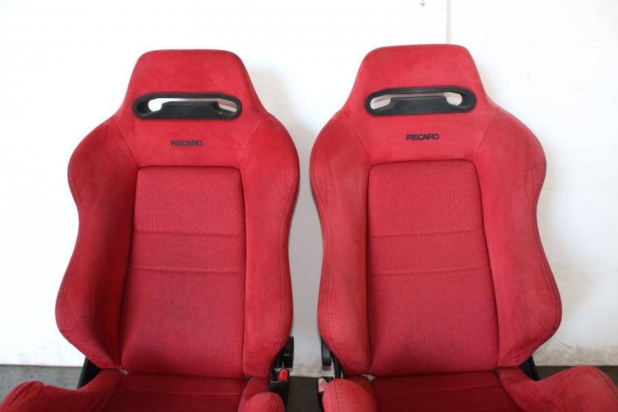 JDM Honda Acura Integra DC OEM Red Recaro Seats Rails Slider - Acura integra seats